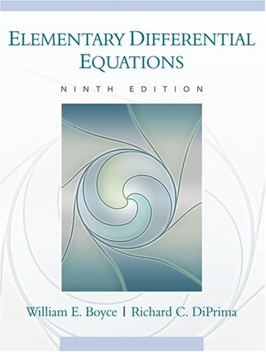 Elementary Differential Equations  9th 2009 edition cover