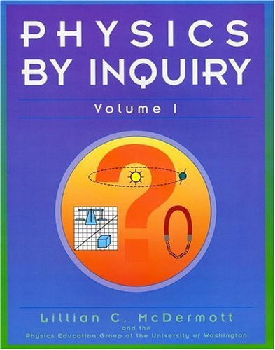 Physics by Inquiry   1996 edition cover