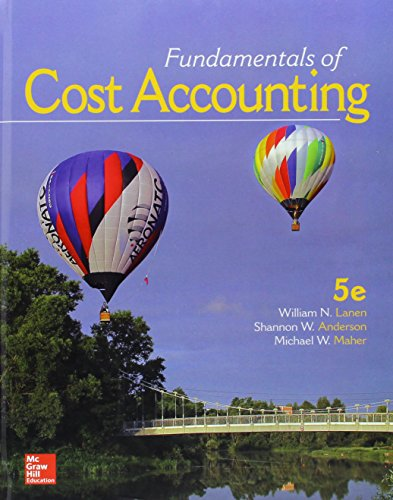 Fundamentals of Cost Accounting:  5th 2016 9781259565403 Front Cover