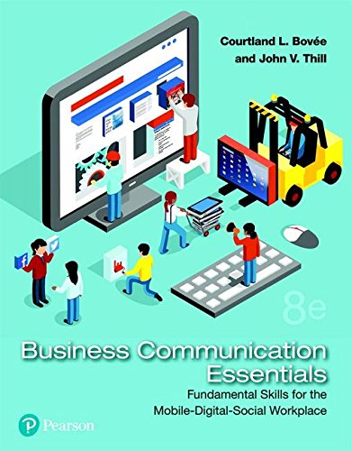 Business Communication Essentials A Skills Based Approach 8th 2019 9780134729404 Front Cover