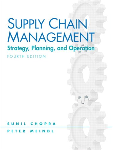 Supply Chain Management Stategy, Planing, and Opeation 4th 2010 edition cover