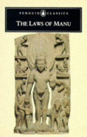 Laws of Manu   1991 edition cover