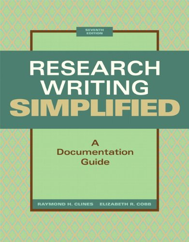 Research Writing Simplified A Documentation Guide 7th 2012 edition cover