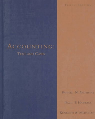 Accounting Text and Cases 10th 1999 9780256218404 Front Cover