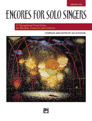 Encores for Solo Singers for Medium Low Voice:   2003 edition cover