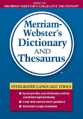 Merriam-Webster's Dictionary and Thesaurus   2007 9780877796404 Front Cover