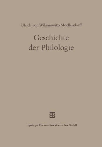 Geschichte der Philologie  3rd 1998 9783663121404 Front Cover