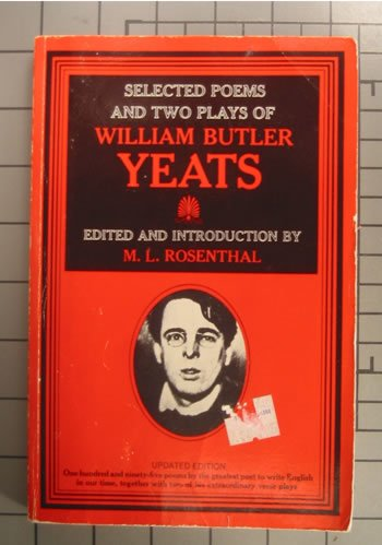 Selected Poems of William Butler Yeats 1st edition cover