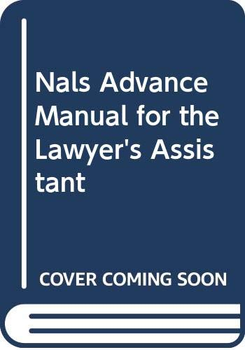 NALS Advanced Manual for the Lawyer's Assistant 8th 2006 edition cover