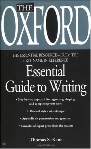 Oxford Essential Guide to Writing   2000 edition cover