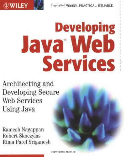 Developing Java Web Services Architecting and Developing Secure Web Services Using Java  2003 9780471236405 Front Cover