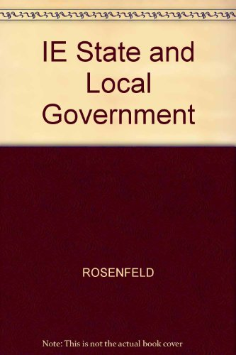 IE State and Local Government N/A 9780534555405 Front Cover