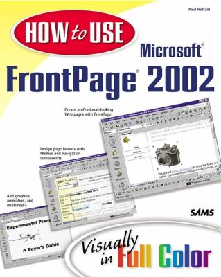 Microsoft Frontpage 2002   2001 9780672321405 Front Cover