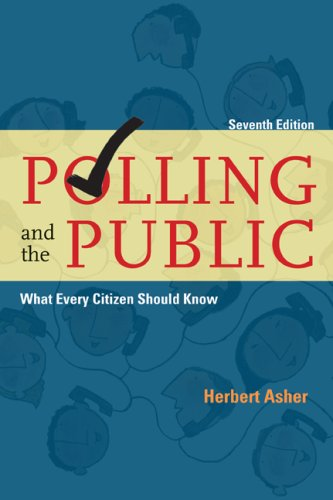 Polling and the Public What Every Citizen Should Know 7th 2007 (Revised) edition cover