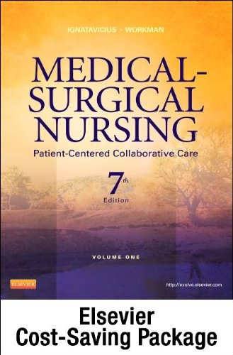 Medical-Surgical Nursing - Two-Volume Text and Clinical Decision Making Study Guide Revised Reprint Package Patient-Centered Collaborative Care 7th edition cover