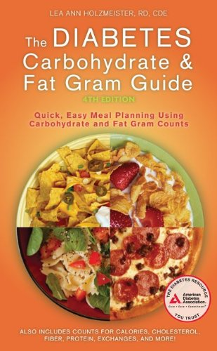 Diabetes Carbohydrate and Fat Gram Guide  4th 2010 edition cover