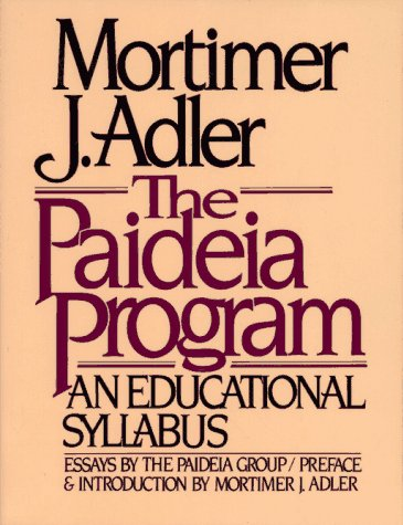 Paideia Program   1984 edition cover