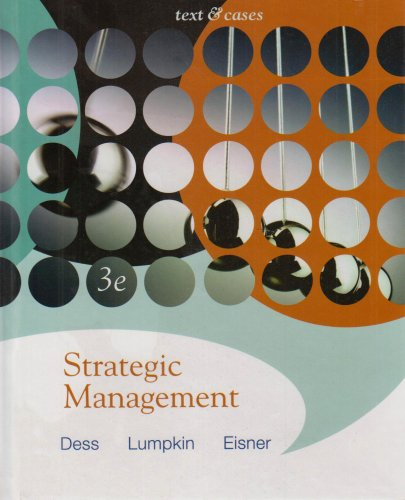 Strategic Management Text and Cases 3rd 2007 (Revised) edition cover