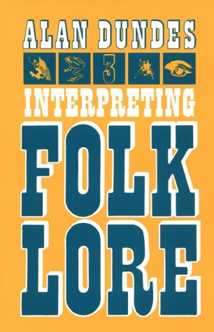 Interpreting Folklore   1980 9780253202406 Front Cover