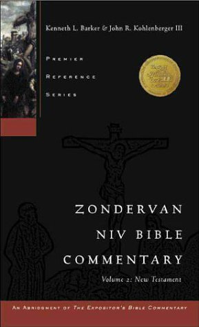Zondervan NIV Bible Commentary The New Testament N/A edition cover