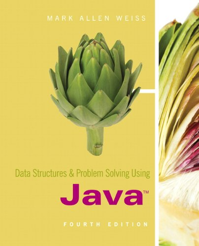 Data Structures and Problem Solving Using Java  4th 2010 edition cover