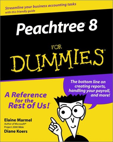 Peachtree 8 for Dummies   2000 9780764506406 Front Cover