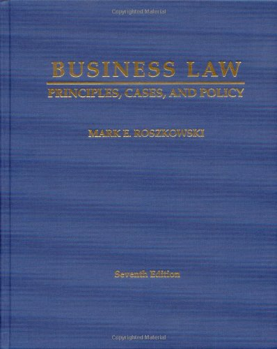 Business Law: Principles, Cases and Policy  2011 edition cover