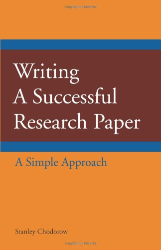 Writing a Successful Research Paper A Simple Approach  2011 edition cover