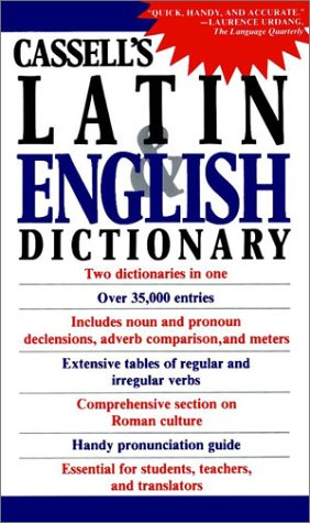 Cassell's Latin and English Dictionary   1987 9780020133407 Front Cover