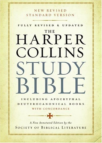Harper Collins Study Bible   2006 (Revised) edition cover