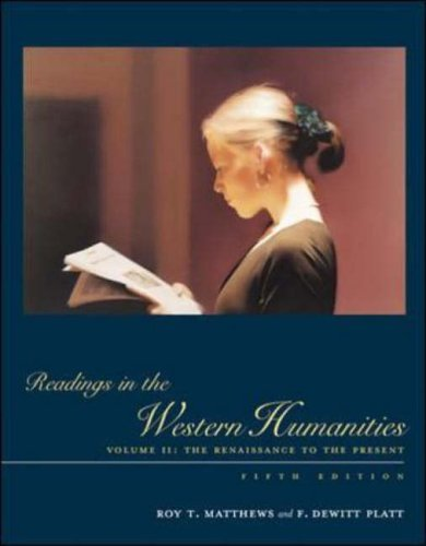 Readings in the Western Humanities  5th 2004 (Revised) edition cover
