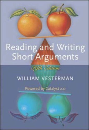 Reading and Writing Short Arguments with Student Access to Catalyst  5th 2006 (Revised) edition cover