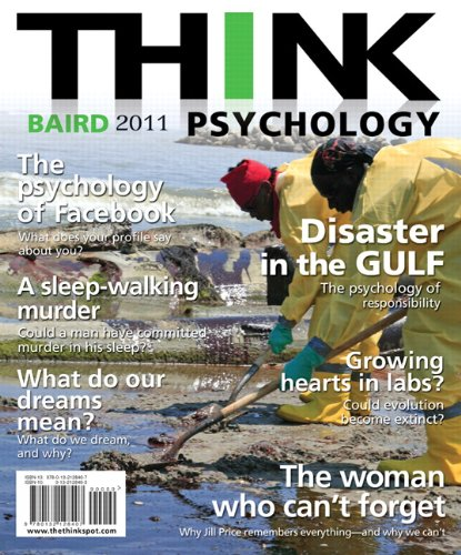 Think Psychology  2nd 2011 edition cover