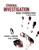 Criminal Investigation: Basic Perspectives  2015 9780133514407 Front Cover