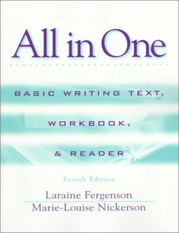 All in One Basic Writing Text, Workbook, and Reader 4th 1999 (Revised) edition cover