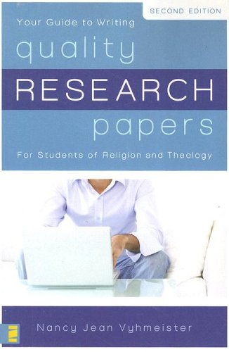Quality Research Papers For Students of Religion and Theology 2nd 2007 edition cover
