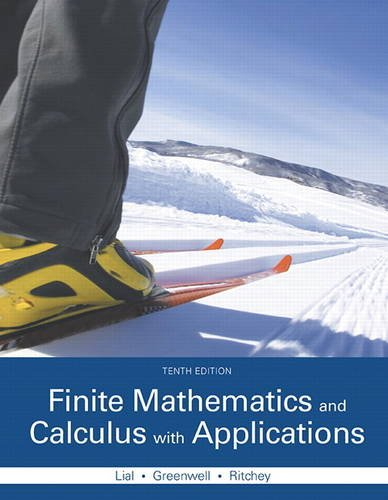 Finite Mathematics and Calculus with Applications  10th 2016 9780321979407 Front Cover
