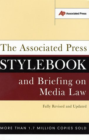 Associated Press Stylebook and Briefing on Media Law   2002 (Revised) edition cover