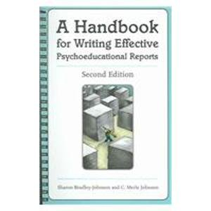 Handbook for Writing Effective Psychoeducational Reports 2nd 2005 edition cover