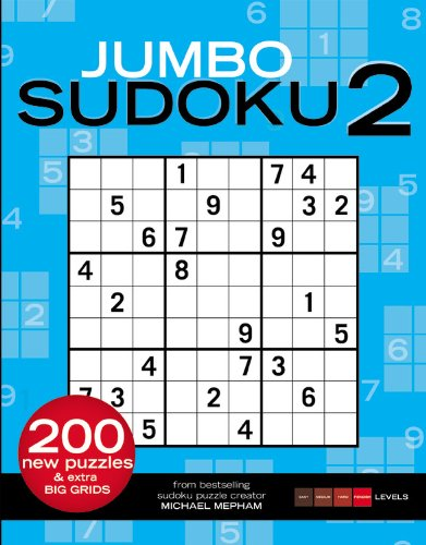 Jumbo Sudoku 2  Revised  9781933405407 Front Cover