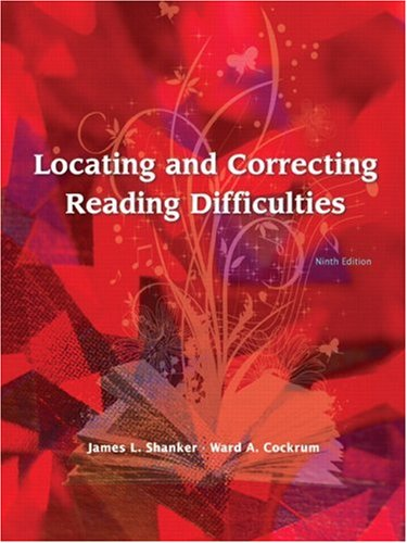Locating and Correcting Reading Difficulties  9th 2009 edition cover