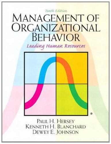 Management of Organizational Behavior  10th 2013 (Revised) edition cover