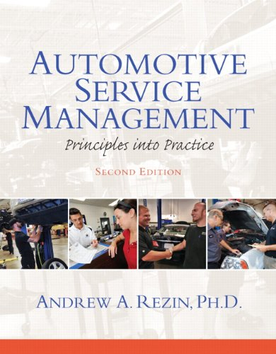 Automotive Service Management  2nd 2013 (Revised) edition cover