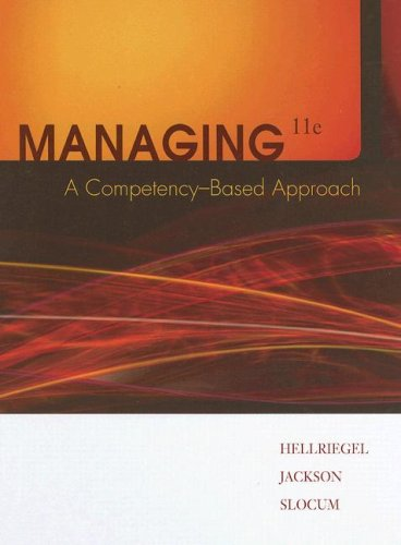 Managing A Competency-Based Approach 11th 2008 edition cover