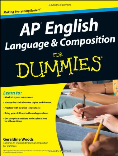 AP English Language and Composition for Dummies   2009 edition cover