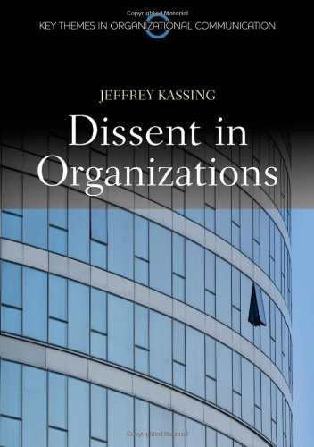 Dissent in Organizations   2011 edition cover