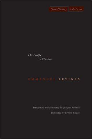 On Escape - De l'Evasion   2003 edition cover