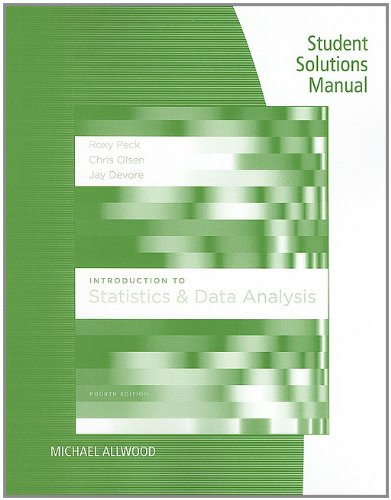 Introduction to Statistics and Data Analysis  4th 2012 edition cover