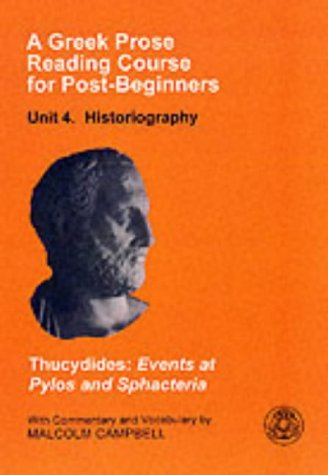 Greek Prose Reading Course for Post-Beginners Historiography  1997 edition cover