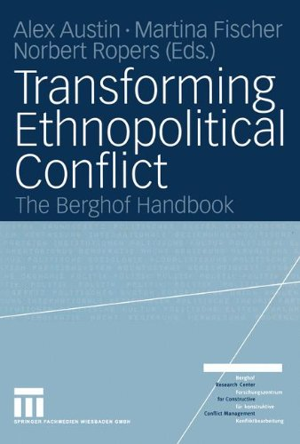 Transforming Ethnopolitical Conflict The Berghof Handbook  2004 9783810039408 Front Cover